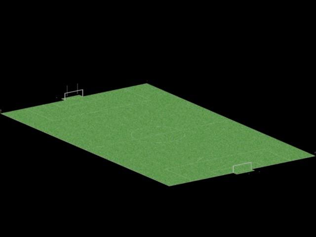 imagen 3d campo de fútbol, en Canchas - Deportes y recreación