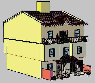 imagen 3d casa, en Vivienda unifamiliar 3d - Proyectos