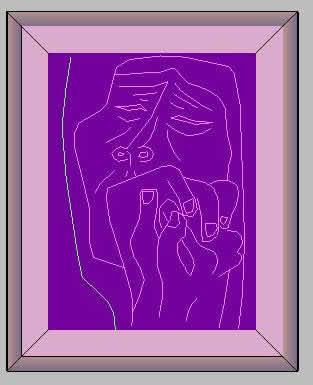 imagen 3d cuadro, en Cuadros - Texturas
