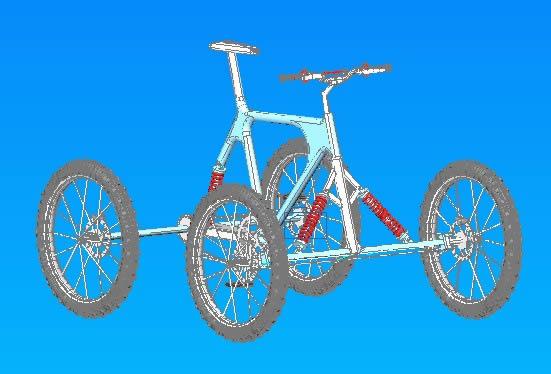 imagen 3d  cuatriciclo, en Motos y bicicletas - Medios de transporte