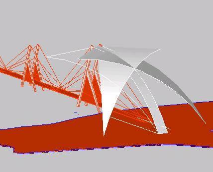 imagen 3d de puente, en Puentes - Obras viales - diques