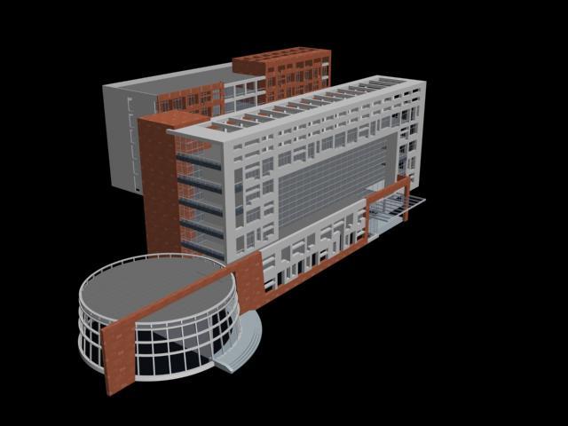 imagen 3d edificio de oficinas, en Oficinas bancos y administración - Proyectos