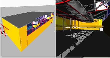 imagen 3d gimnasio maravillas. allejandro de la sota, en Proyectos estadios - Deportes y recreación