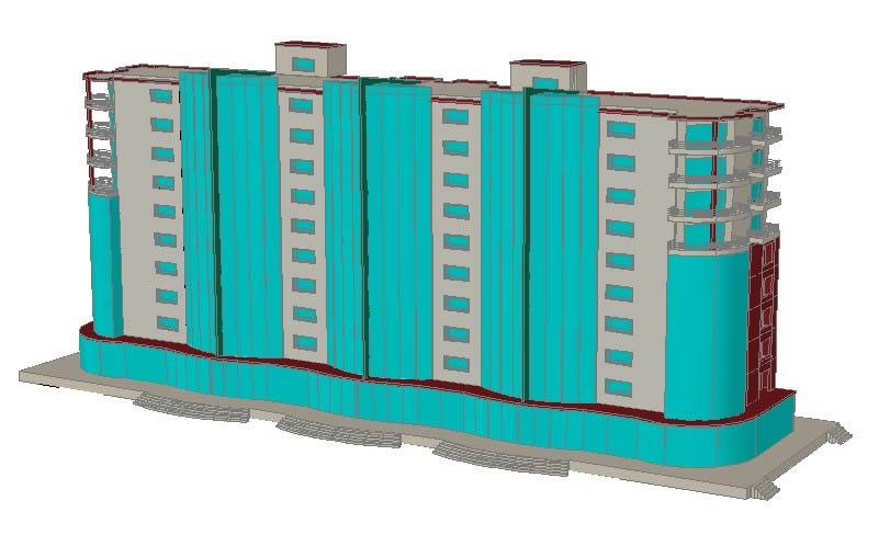 imagen 3d  objetivo poli funtional, en Oficinas bancos y administración - Proyectos