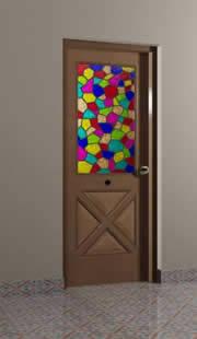 imagen 3d puerta 0.90x2.10 mts, en Puertas 3d - Aberturas