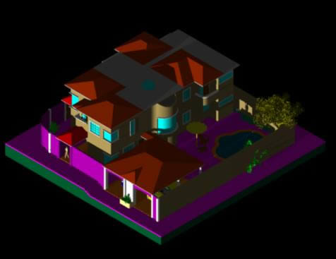imagen 3d vivienda, en Vivienda unifamiliar 3d - Proyectos