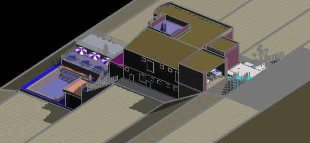 imagen 3d vivienda frente al mar, en Vivienda unifamiliar 3d - Proyectos