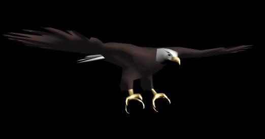 imagen Aguila americana 3d, en Animales 3d - Animales