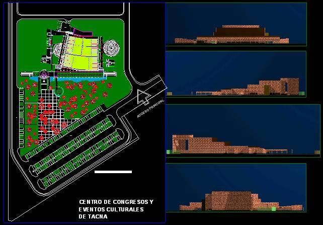 imagen Anteproyecto centro de congresos en tacna, en Oficinas bancos y administración - Proyectos