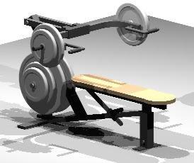 imagen Aparato de pesas 3d, en Equipamiento gimnasios - Deportes y recreación