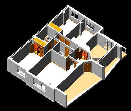 imagen Apartamento completo en 3d, en Vivienda unifamiliar 3d - Proyectos