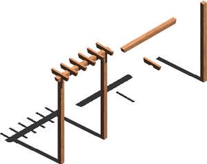 Planos de arco de madera para puerta jardin 3d en - Arcos de madera para jardin ...