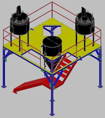 imagen Area de procesamiento 3d, en Maquinaria para industria de la alimentación - Máquinas instalaciones