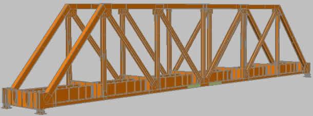 imagen Armadura de acero puente de ferrocarril, en Puentes - Obras viales - diques