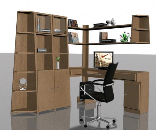 imagen Armario en 3d - 01, en Estanterías y modulares - Muebles equipamiento