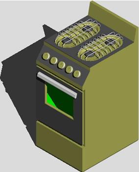 imagen Artefacto cocina 3d, en Cocinas - Muebles equipamiento