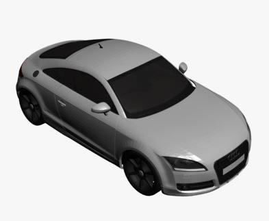 imagen Audi tt 3d, en Automóviles en 3d - Medios de transporte