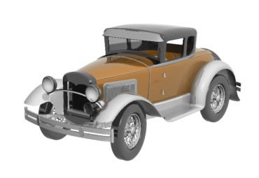 imagen Auto clasico ford, en Automóviles en 3d - Medios de transporte