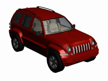 imagen Automovil jeep liberty 3d, en Automóviles en 3d - Medios de transporte