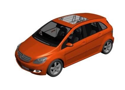 imagen Automovil mercedes 3d, en Automóviles en 3d - Medios de transporte