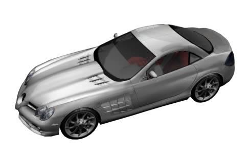 imagen Automovil mercedes slr 3d, en Automóviles en 3d - Medios de transporte