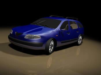 imagen Automovil renault laguna 3d, en Automóviles en 3d - Medios de transporte