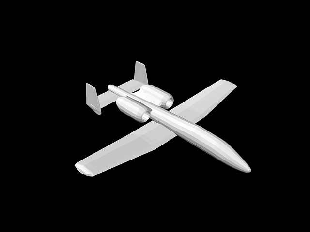 imagen Avion 3d, en Aeronaves en 2d - Medios de transporte
