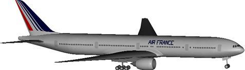 imagen Avion boeing 777-300, en Aeronaves en 3d - Medios de transporte