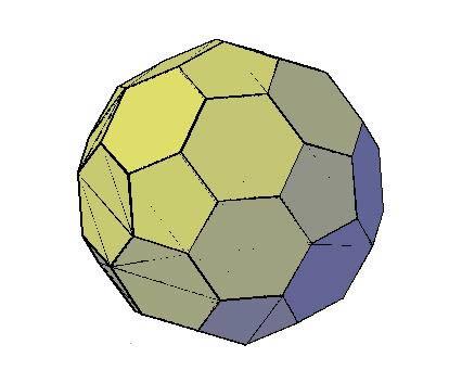 imagen Balon de futbol 3d, en Ejercicios varios - Dibujando con autocad