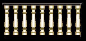 imagen Balustro, en Arcos columnas y balustres - Historia