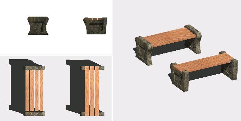 imagen Banca 3d, en Butacas - Muebles equipamiento