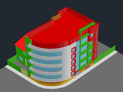 imagen Banco 3d, en Oficinas bancos y administración - Proyectos
