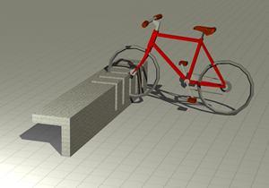 imagen Banco y soporte bicicleta, en Equipamiento de parques paseos y plazas - Equipamiento urbano