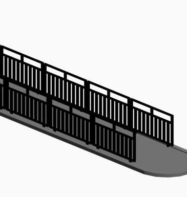 imagen Bandejon central 3d, en Transferencia peatón - vehículo paradores - Equipamiento urbano