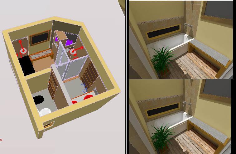 imagen Bano 3d zonificado, en Baños - Sanitarios