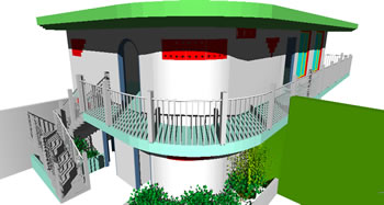 imagen Baños; gimnasio y terraza, en Proyectos estadios - Deportes y recreación