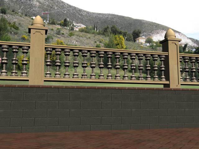 imagen Baranda 3d, en Barandas - Escaleras