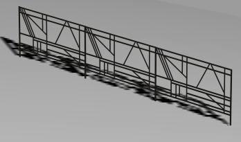 imagen Baranda metálica 3d, en Barandas - Escaleras