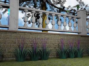 imagen Baranda tipo, en Verjas y vallados - Parques paseos y jardines