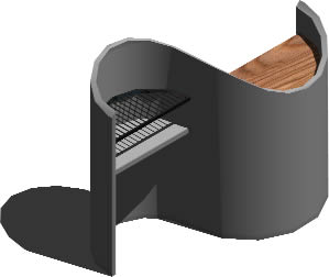 imagen Barbecue - azador, en Quinchos - churrasquerías - cocinas alternativas - Parques paseos y jardines