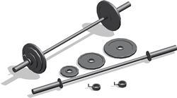 imagen Barra y kit de pesas, en Equipamiento gimnasios - Deportes y recreación