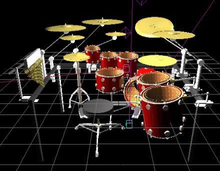 imagen Bateria 3d, en Instrumentos musicales - Muebles equipamiento