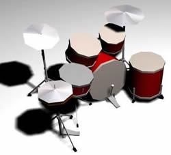 imagen Batería, en Instrumentos musicales - Muebles equipamiento