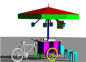 imagen Bicicleta de venta de cerveza con sonido y pantalla flat de t.v., en Motos y bicicletas - Medios de transporte