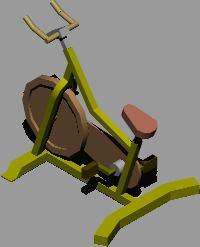 imagen Bicileta de spinning en 3d, en Equipamiento gimnasios - Deportes y recreación
