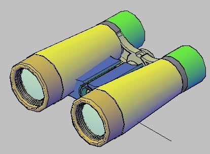 imagen Binocular 3d, en Herramientas - Obradores