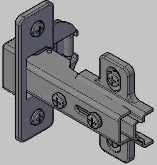 imagen Bisagra tipo e2, en Herrajes cerraduras tornillos - Aberturas