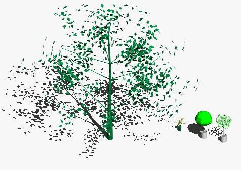 imagen Bloques arboles 3d, en Arboles en 3d - Arboles y plantas