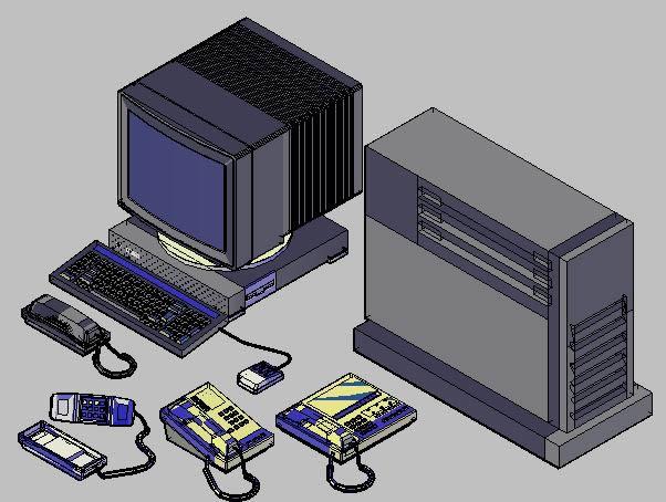 Planos de bloques autocad 3d aparatos de oficina en for Muebles de oficina 3d autocad