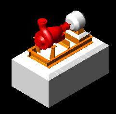 imagen Bomba 3d, en Equipos de bombeo - Máquinas instalaciones